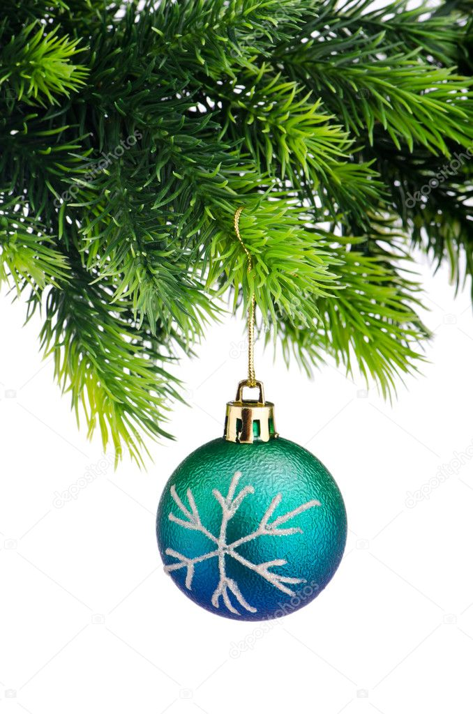 Christmas concept with baubles on white — Stockfoto #11903414