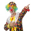 Funny clown on the white — Foto de Stock