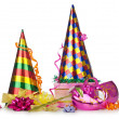 Hats streamers and other stuff for party — Stock Photo