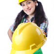 Woman worker on white — Stock Photo #12025194
