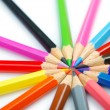 Colour pencils in creativity concept — Foto de Stock