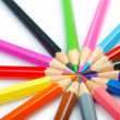 Colour pencils in creativity concept — Stock fotografie