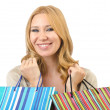 Attractive girl with shopping bags - Foto Stock