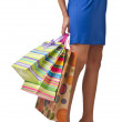 Attractive girl with shopping bags - Stok fotoğraf