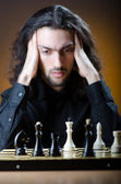 Jugador de ajedrez en su juego — Foto de Stock