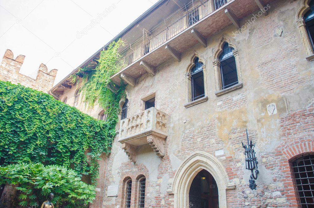 Famous juliet balcony in verona stock photo elnur for Famous balcony