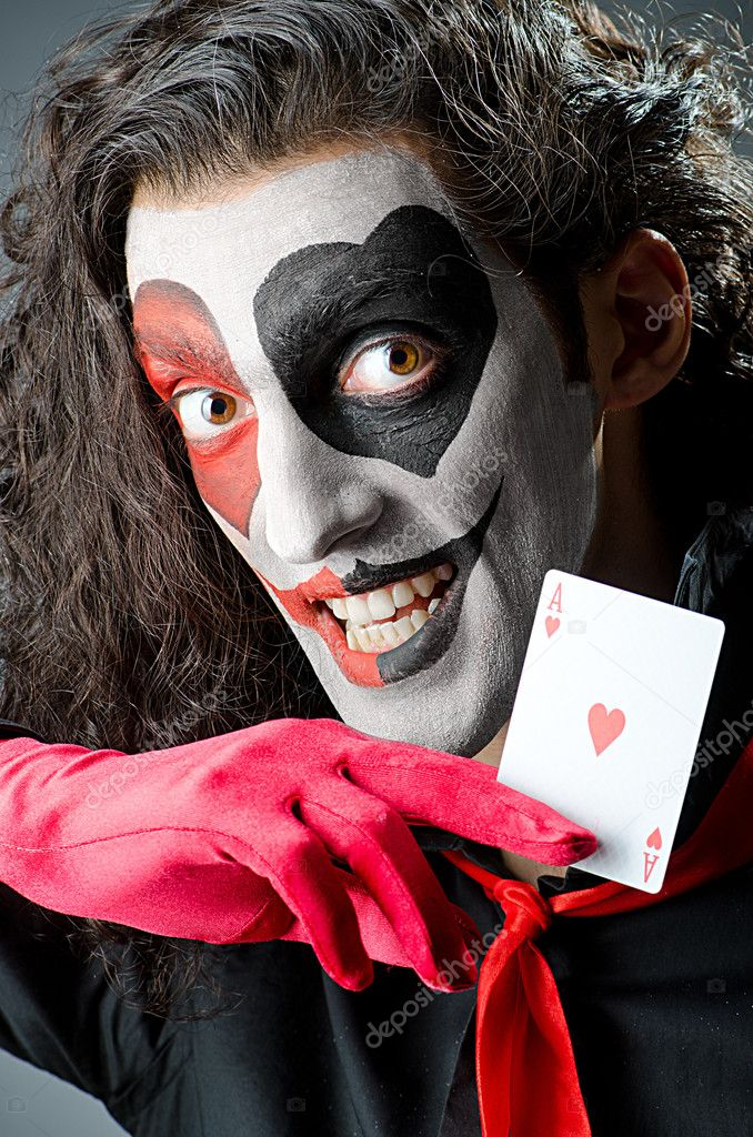 Joker with cards in studio shoot — Stock Photo #12024178