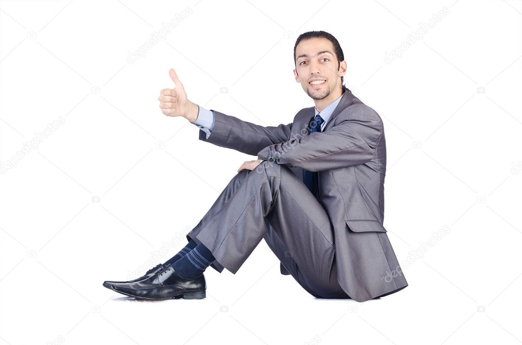 Businessman isolated on the white background — Stock Photo #12025017