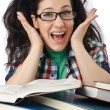 Student preparing for the exams — Stock Photo