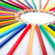 Colour pencils in creativity concept — Photo