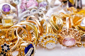 Large collection of gold jewellery — Stok fotoğraf