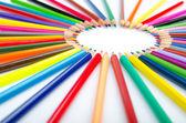 Yaratıcılık kavramı içinde renkli kalemler — Stok fotoğraf