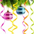 Holiday christmas decoration on white — Stock Photo
