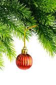 Concetto di Natale con palle di Natale bianco — Foto Stock