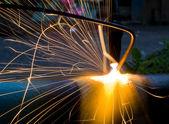 Scintille del metallo fuso — Foto Stock