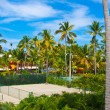 Tennis court in the tropical resort — Stock Photo #11463216