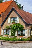 Rural brick house — Stock Photo
