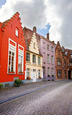 Cityscape of Bruges streets — Stock Photo