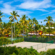 Tennis court in the tropical resort — Stock Photo #12332710