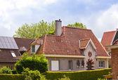 Beautiful brick house. Bruges. Belgium. — Stock Photo