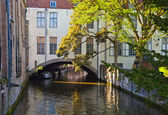 中世纪的城市在比利时布鲁日 — 图库照片
