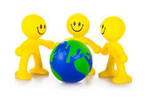 Association of mankind for preservation of the Earth — Stock Photo