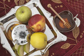 Honey with apple for Rosh Hashana — Foto Stock