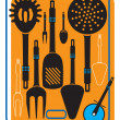 Vector set of kitchenware — Stock Vector