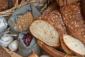 Fresh baked bread with garlic — Stock Photo