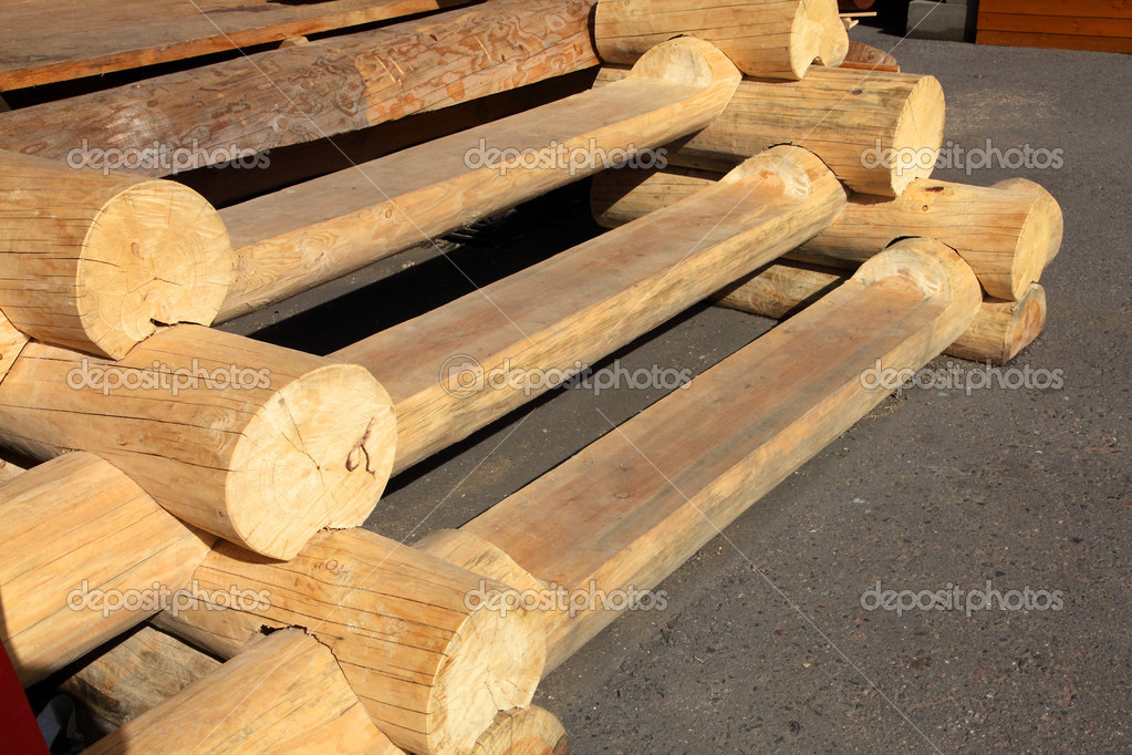 Scale di tronchi di legno foto stock offscreen 11204094 - Immagini scale in legno ...