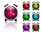 Multi-colored alarms — Stock Photo