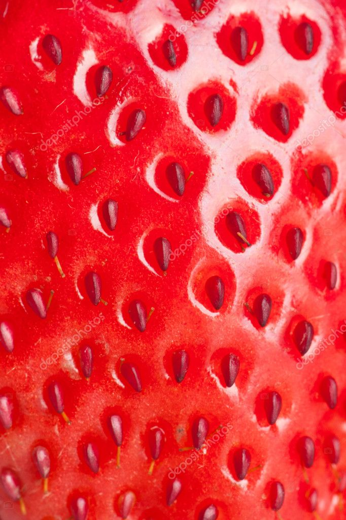 Extreme macro red strawberry, background — Stock Photo #11542695