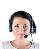 Müşteri destek kız — Stok fotoğraf