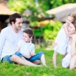 Summer family portrait — Stock Photo