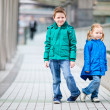 Brother and sister outdoors — Stock Photo