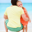 Father and daughter at beach — Stock Photo #10794559
