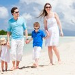 Royalty-Free Stock Photo: Happy family on tropical vacation