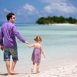 Father and daughter at beach — Stock Photo #11191961