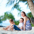 Family enjoying evening at beach — Stock Photo #11276674