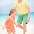 Father and daughter at beach — Stock Photo #11277254