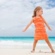 Cute little girl at beach — Stock Photo #11277269