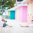 Royalty-Free Stock Photo: Little boy photographing his family