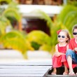 Brother and sister on vacation — Stock Photo #12208620