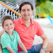 Father and son at hammock — Stock Photo #12208761