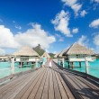Stock Photo: Over water bungalows