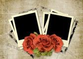 Frame Polaroid on vintage background — Stock Photo