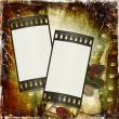 Grunge background with film frame — Stock Photo