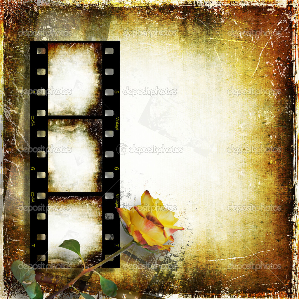 Vintage   background with frame and rose for congratulations and invitations — Stock Photo #10945643
