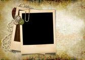 Grunge background with polaroid frame — Stock Photo