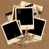 Vintage polaroid frame with space for text or photos — Stock Photo